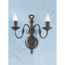 Franklite Halle Double Wall Light - Bronzed Brass (Large)