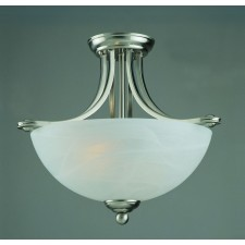 Impex Texas Ceiling Light - 2 Light, Satin Chrome & Nickel