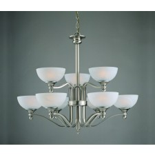 Impex Texas Ceiling Light Satin Nickel - 9 Light