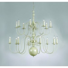 Impex Bologna Chandelier Cream - 16 Light