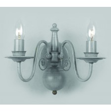 Impex Bologna Wall Light Grey - 2 Light