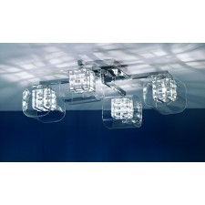 Impex Avignon Ceiling - 4 Light, Light Chrome