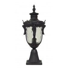 Elstead PH3/M BLK Philadelphia Medium Pedestal Lantern Black