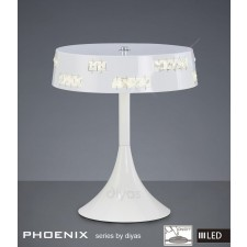 Diyas Phoenix Table Lamp 18X0.5W LED Light White/Crystal 3600K