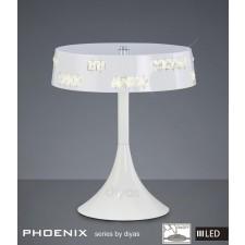 Diyas Phoenix Table Lamp 18X0.5W LED Light White/Crystal 3600K