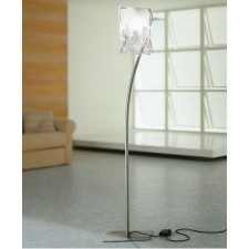 Murano Floor Lamp - Grey Aluminium, White Alabaster