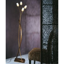 Mosca Floor Lamp - 4 Light, Antique Brown