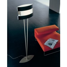 New York Floor Lamp - 1 Light, White, Black, Aluminium