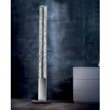 Male LED Floor Lamp - Polished Chrome, Crystal Glass