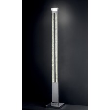 Male Floor Lamp - Polished Chrome, Crystal Glass