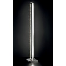 Male LED 12w Floor Lamp - Polished Chrome, Crystal Glass