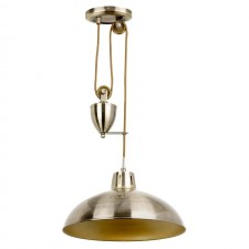 Polka Rise & Fall Ceiling Pendant - Antique Brass