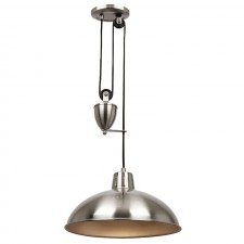 Polka Rise & Fall Ceiling Pendant - Satin Nickel