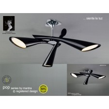Pop Ceiling 3 Light Black
