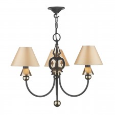 Spearhead Ceiling Light - 3 Light Bronze