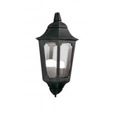 Elstead PR7 BLACK Parish Half Lantern Black
