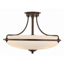 Quoizel QZ/GRIFFIN/SFMPN Griffin Semi-Flush Light