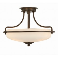 Quoizel QZ/GRIFFIN/SFSPN Griffin Semi-Flush Light