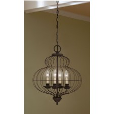 Quoizel QZ/LAILA4B Laila 4 - Light Chandelier