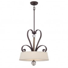 Quoizel QZ/MADISONM/P WT Madison Manor 4 - Light Pendant Western Bronze