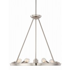 Quoizel QZ/THEATERROW6IS Uptowntr 6 - Light Chandelier