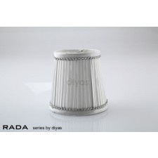 Diyas Rada Fabric Shade White 85mm