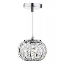 Dar Rae 1-Light Pendant Polished Chrome