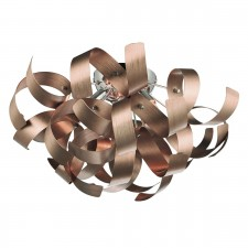 Dar Rawley 4-Light Flush Copper