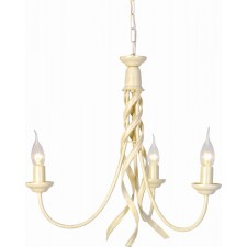 Elstead RB3 IVRY/GLD Ribbon 3 - Light Chandelier Ivory/Gold