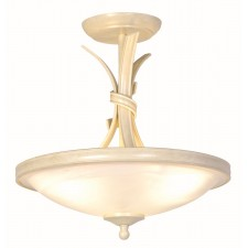 Elstead RB/SF/A IV/GOLD Ribbon Semi-Flush Light Ivory/Gold