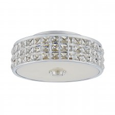 Repton Flush Led Polished Chrome Clear
