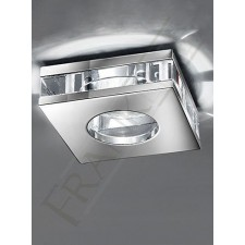 Franklite RF267 LV 50W Square Crystal Downlight IP65