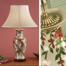 Interiors1900 Foxgloves with Oyster Silk Shade