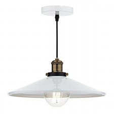 Roof 1 Light Pendant White