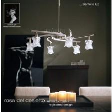 Rosa Del Desierto Telescopic Pendant 6 Lights Satin Nickel