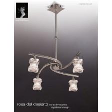 Rosa Del Desierto Telescopic Pendant 4 Lights Satin Nickel