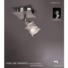 Rosa Del Desierto Switched 1L Spot Light Satin Nickel