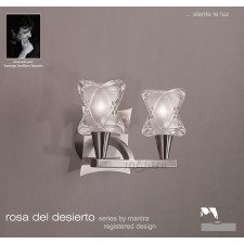 Rosa Del Desierto Switched Wall Lamp 2 Lights Satin Nickel