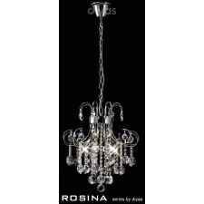 Diyas Rosina Pendant 6 Light Polished Chrome/Crystal