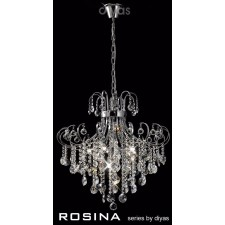 Diyas Rosina Pendant 7 Light Polished Chrome/Crystal