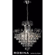Diyas Rosina Pendant 8 Light Polished Chrome/Crystal