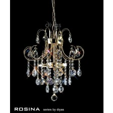 Diyas Rosina Pendant 5 Light French Gold/Crystal