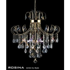 Diyas Rosina Pendant 6 Light French Gold/Crystal