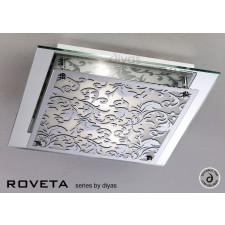 Diyas Roveta Ceiling/Wall 2 Light Polished Chrome