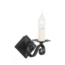 Elstead RY1A BLACK Rectory 1 - Light Wall Light A Black