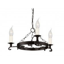 Elstead RY3 BLACK Rectory 3 - Light Chandelier Black