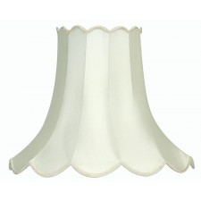"Oaks Lighting S701/10 IV Ivory 10"" Scallop Shade"