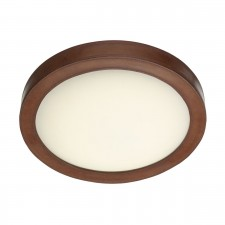 Saddler Ceiling Light - Brown Leather Effect