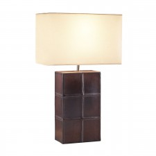 Saddler Square Ribbed Table lamp w/Shade