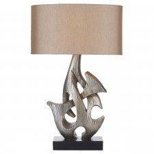 Sabre Table Lamp - Silver Wooden